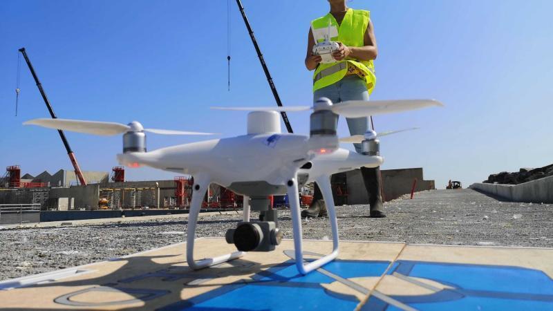 Drone utilisé en photogrammétrie